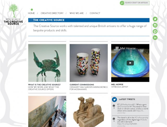 The Creative Source home page